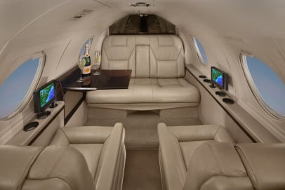 Falcon 10 Interior - Private Jet Charter