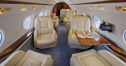 Gulfstream G450 Interior - Private Jet Charter