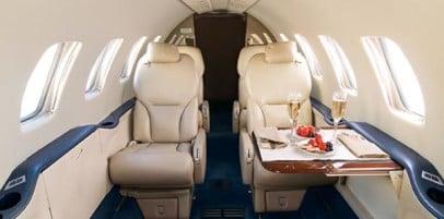 Citation Bravo Interior - Private Jet Charter