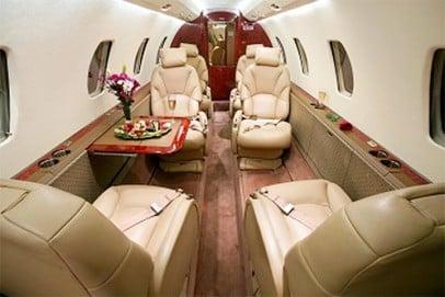 Citation Excel Interior - Private Jet Charter